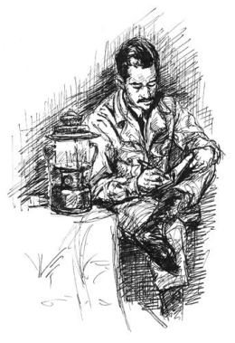 man-writing-sketch